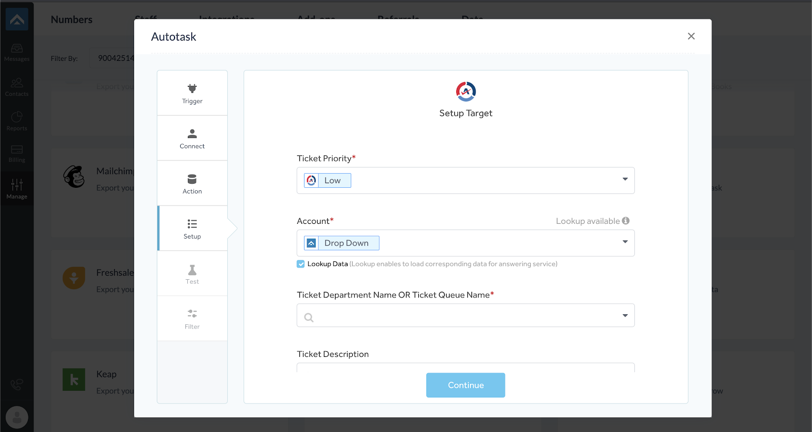 step nine of integrating AnswerForce with Autotask