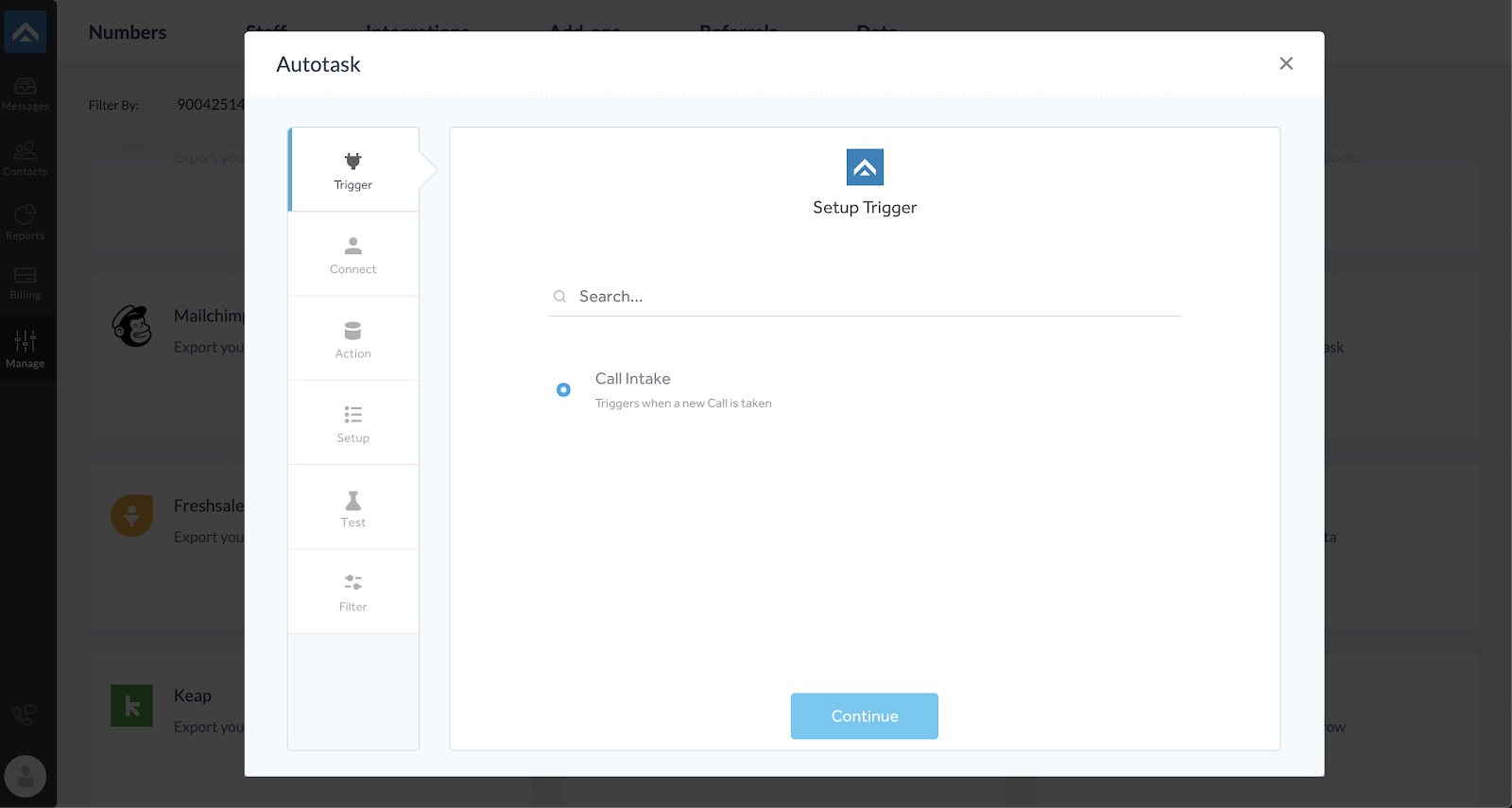 step three of integrating AnswerForce with Autotask