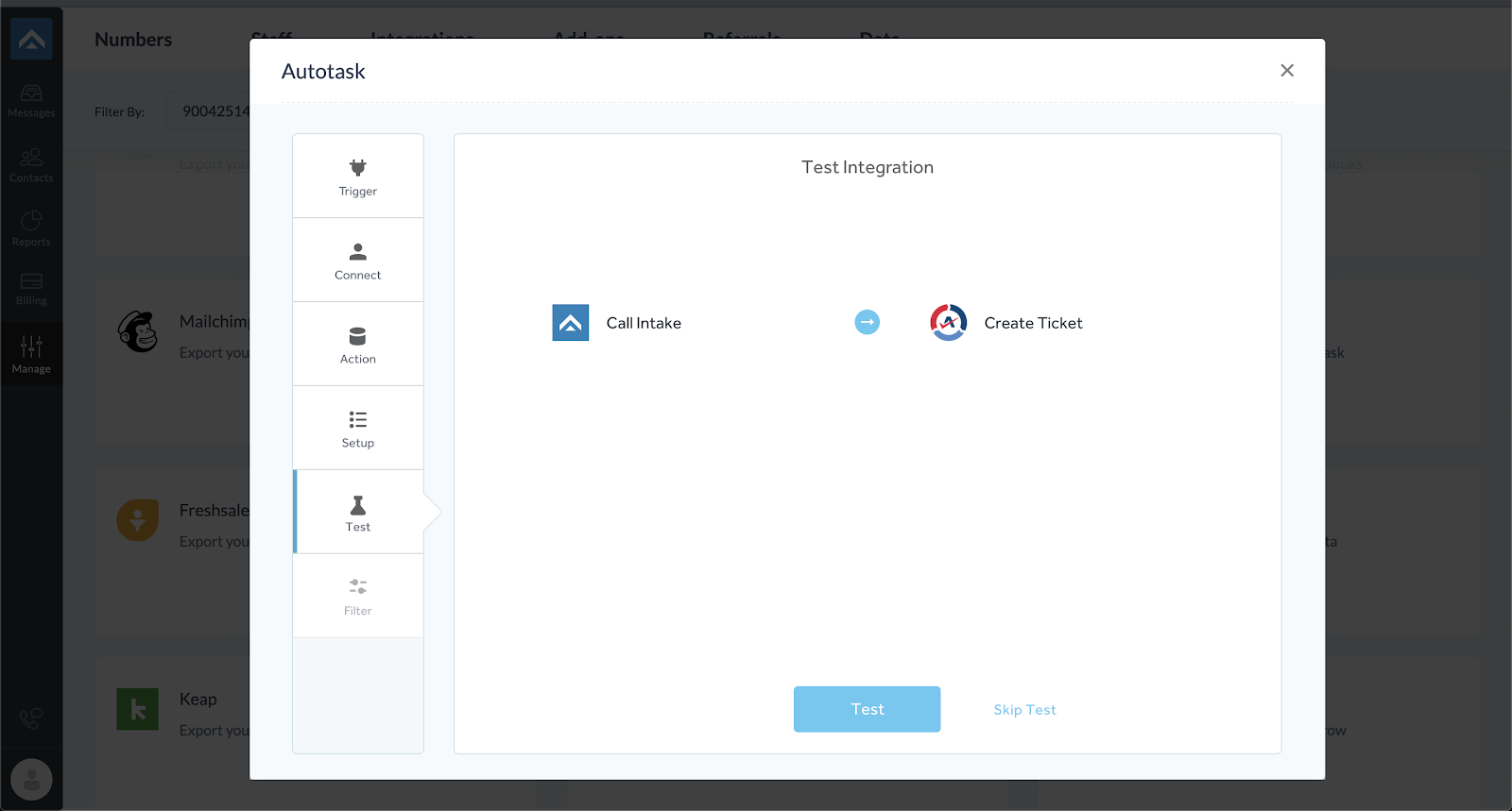 step ten of integrating AnswerForce with Autotask