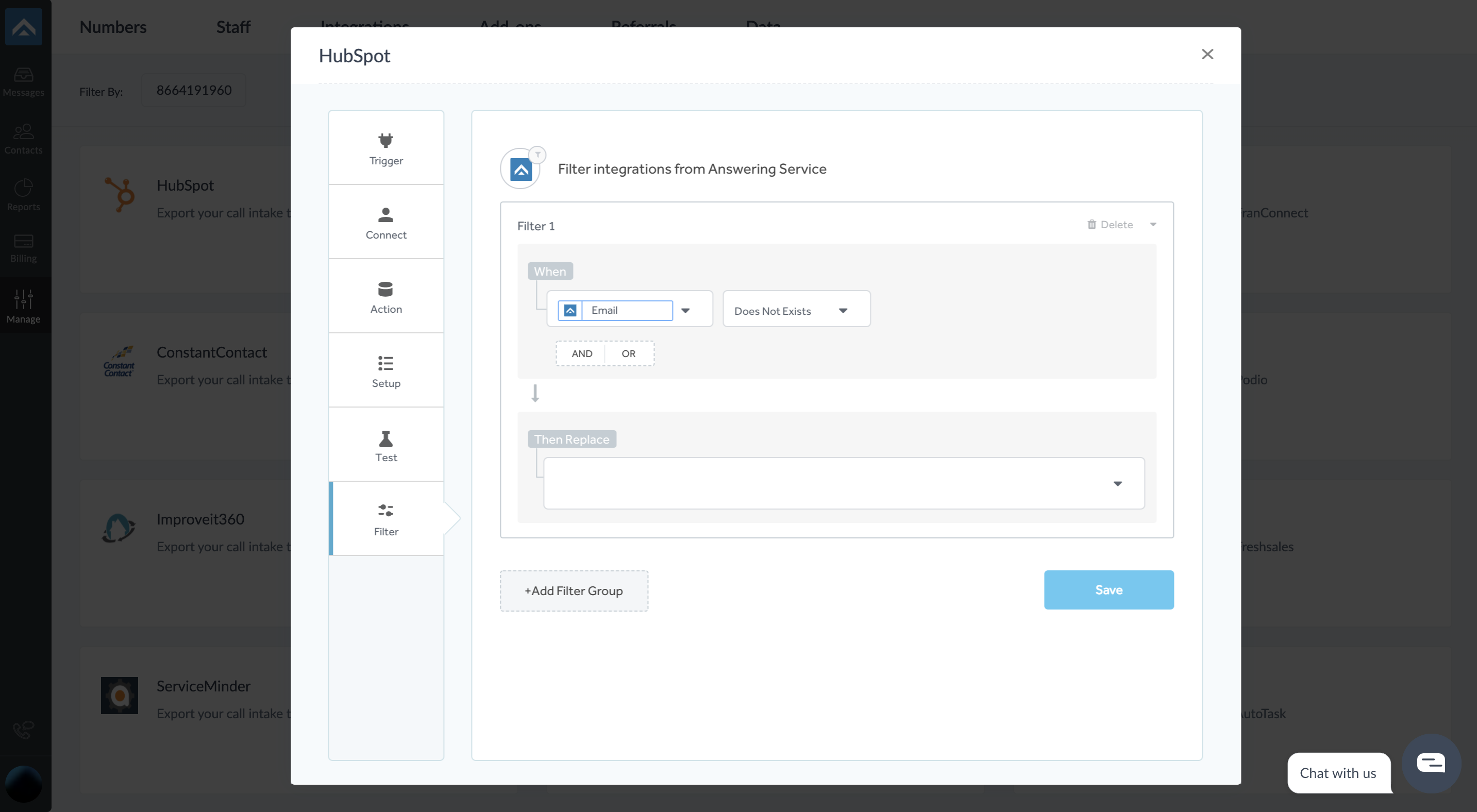 step nine of integrating AnswerForce with Hubspot